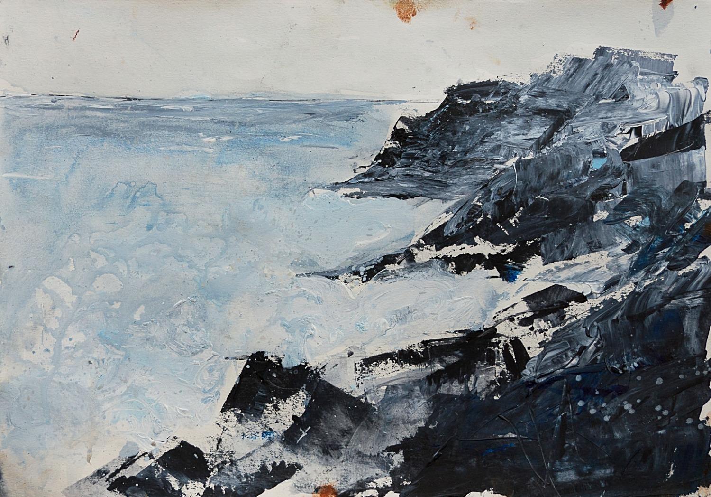 Waves Crashing 2017, 30 x 35 cm, Acrylic