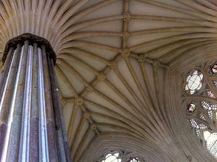 14.Vaulted ceiling – Chapter House at Wells.