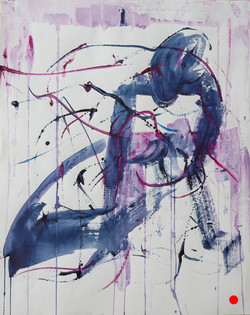 2017, Figurative Art, Newlyn school of Art, Sue's art, Sue's website, blue and pink, image