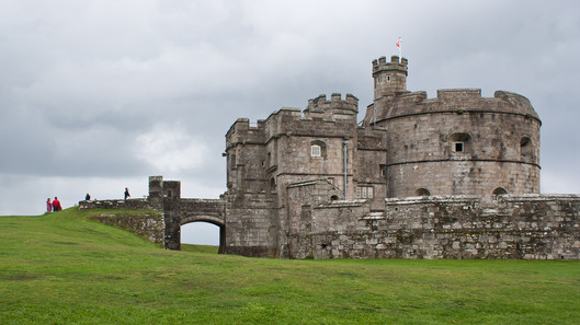 31. Pendennis Castle and drawbridge.