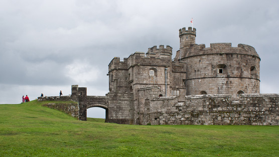 31. Pendennis Castle and drawbridge.