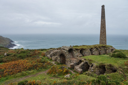 7. Arsenic labarynth and chimney.Botallack Mines.