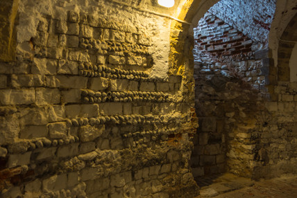 7. Deal Castle Tower: Interior.