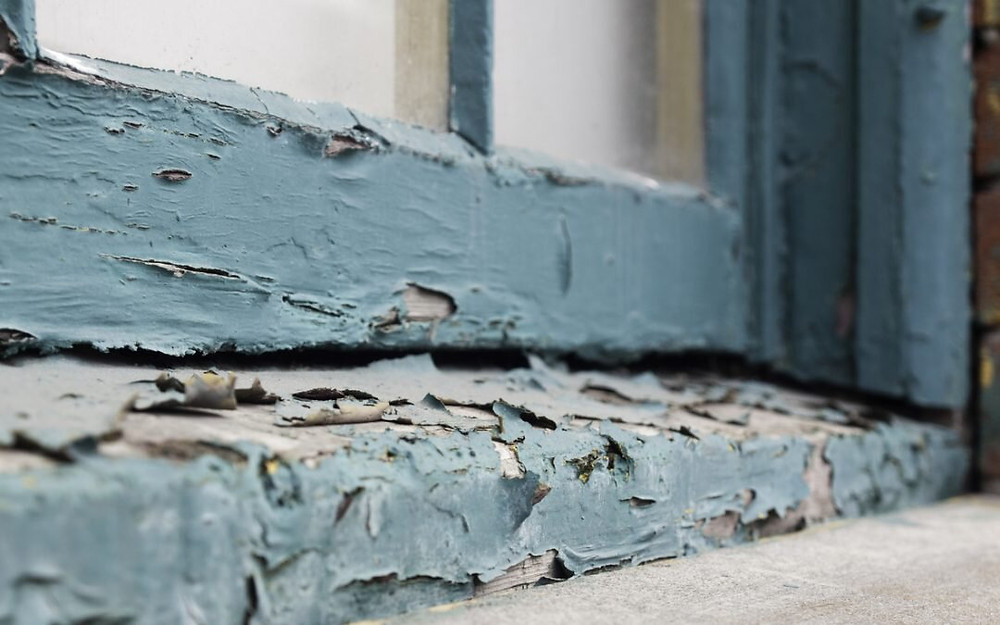 Lead paint chips can be dangerous especially for young children.