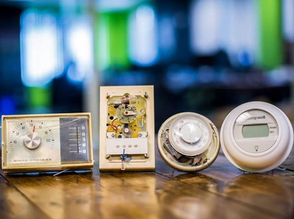 Old thermostats no longer used in modern homes