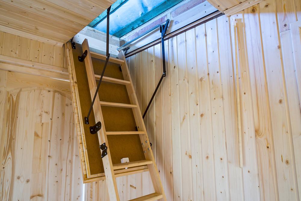 The attic often lacks sufficient insulation