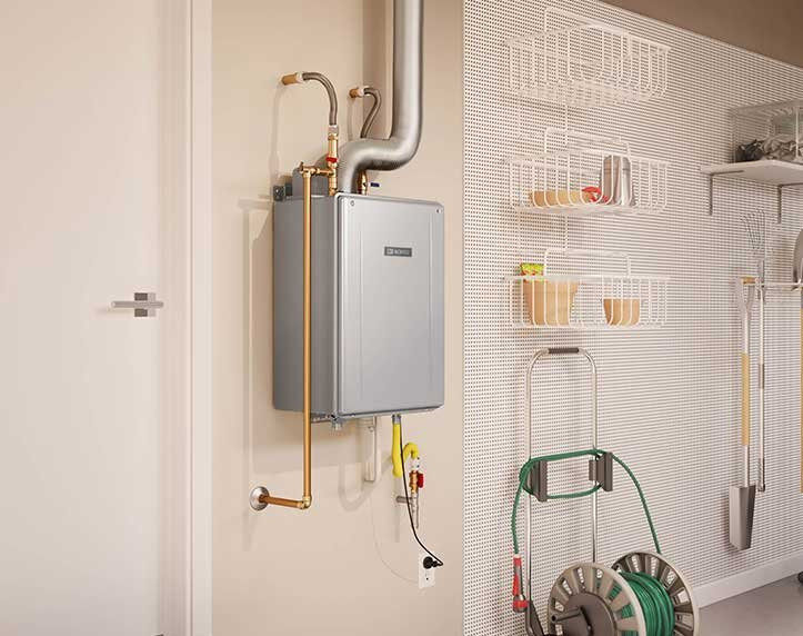Example of a tankless water heater