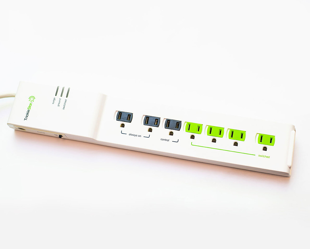Smart power strip provided by HomeWorks Energy and Mass Save