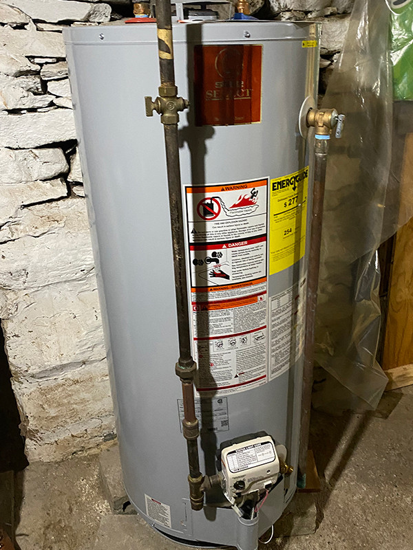 A gas water heater
