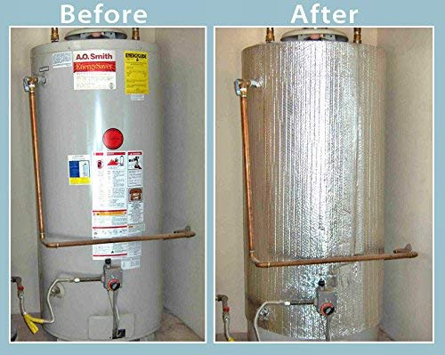 Water heater with insulation added