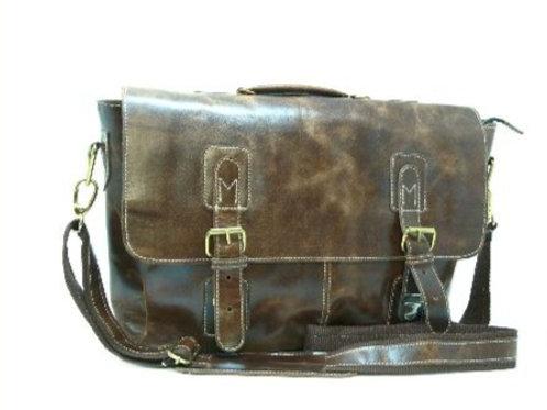 Dark Brown Colour Messenger Laptop Bag