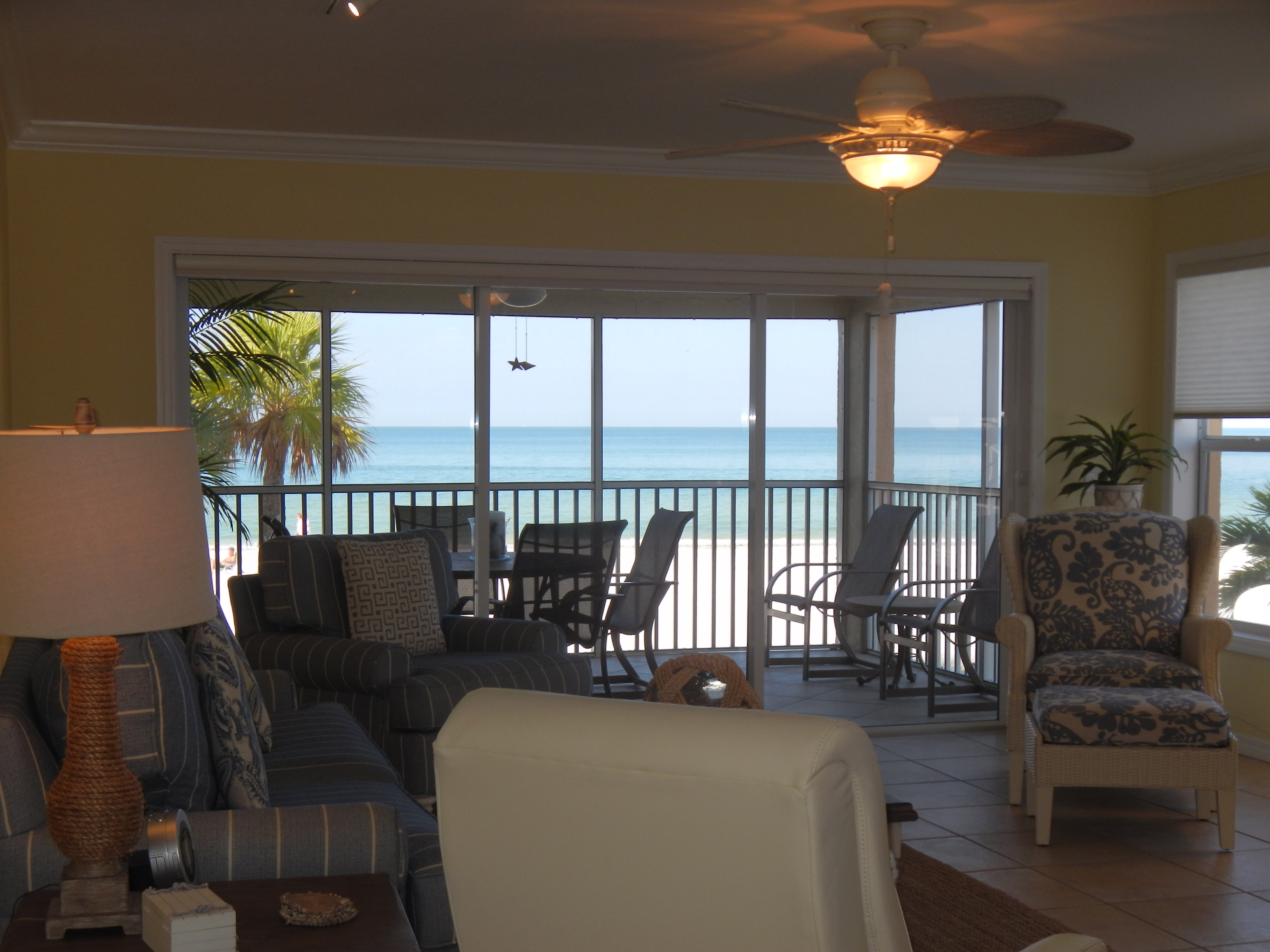 View from living area & kitchen