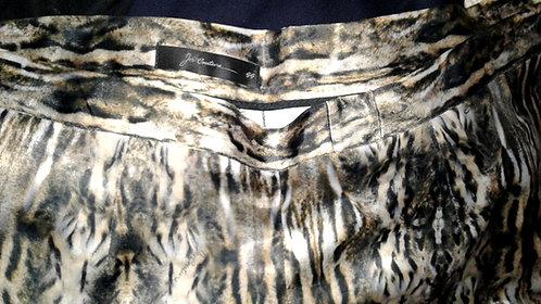 calça feminina, calça Jes Couture GG, calça estampada animal print, brecho très chic, venda virtual, loja virtual, roupas