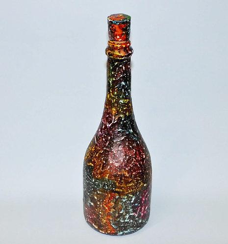 Garrafa, garrafas, garrafa decorada, vidro pintado, pintura em vidro, pintura em garrafa, presentes masculinos