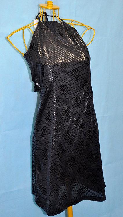 vestido preto frente única com brilho, vestido para festa, brechotreschic, brechó très chic, vestido preto, roupas femininas,