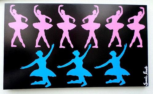 Painel Ballet Pink and Blue colagem