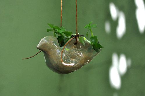 vasinho, vaso, vasos, vasinhos, vaso de passarinho, vaso para suculentas, passarinho, suculentas, cerâmicas de Sueli Finoto,