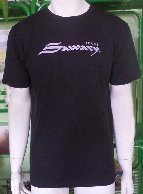 camiseta preta masculina G Sawary, roupas para rapazes, brechó très chic, brechotreschic, brecho com seção para homens,