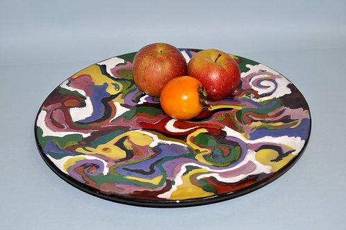 Prato em cerâmica esmaltado tamanho grande