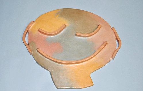 Menino bonito máscara decorativa em cerâmica de Sueli Finoto
