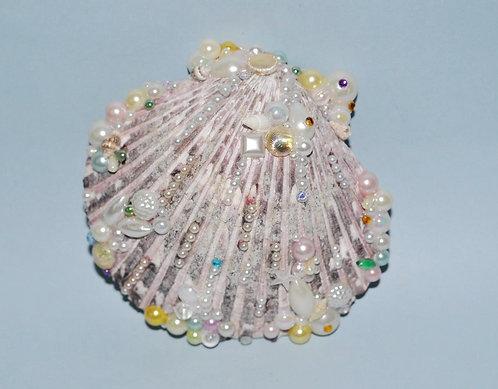 Conchas naturais decoradas a mão com contas diversas, conchas para decoração, sereismo