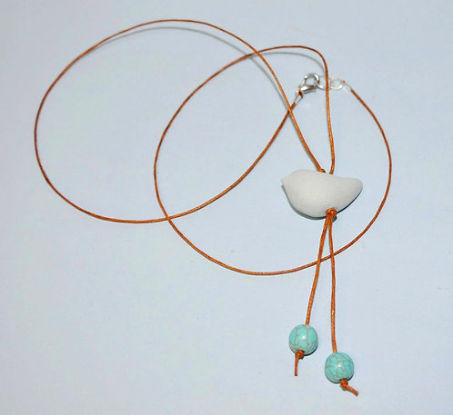 Petit oiseau, colar, cerâmica, Fase NOva art crat e cerâmica, Sueli Finoto, presentes, bijuterias feitas a mão, presentes