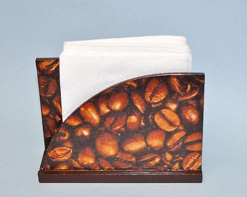 Porta guardanapo em madeira trabalhado a mão com decoupage