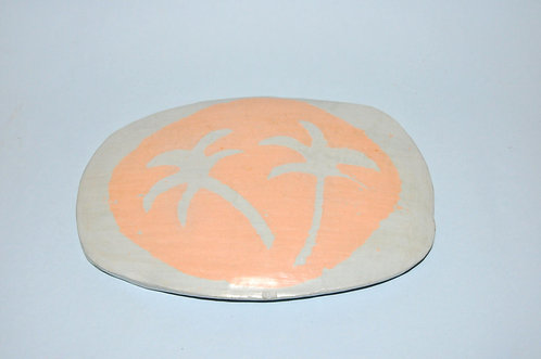 Cerâmica, quadro de cerâmica, coqueiros, cerâmica decorativa, objetos em cerâmica para decoração, Sueli Finoto cerâmicas, art