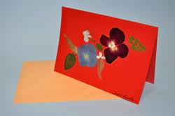 Cartão em oshibana
