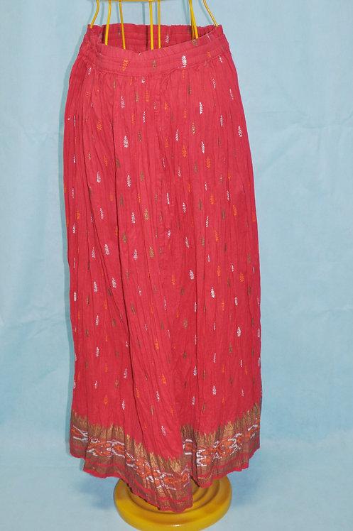 saia indiana vermelha, saia longa indiana vermelha, brechotreschic, brechó très chic, roupas femininas, saias importadas,