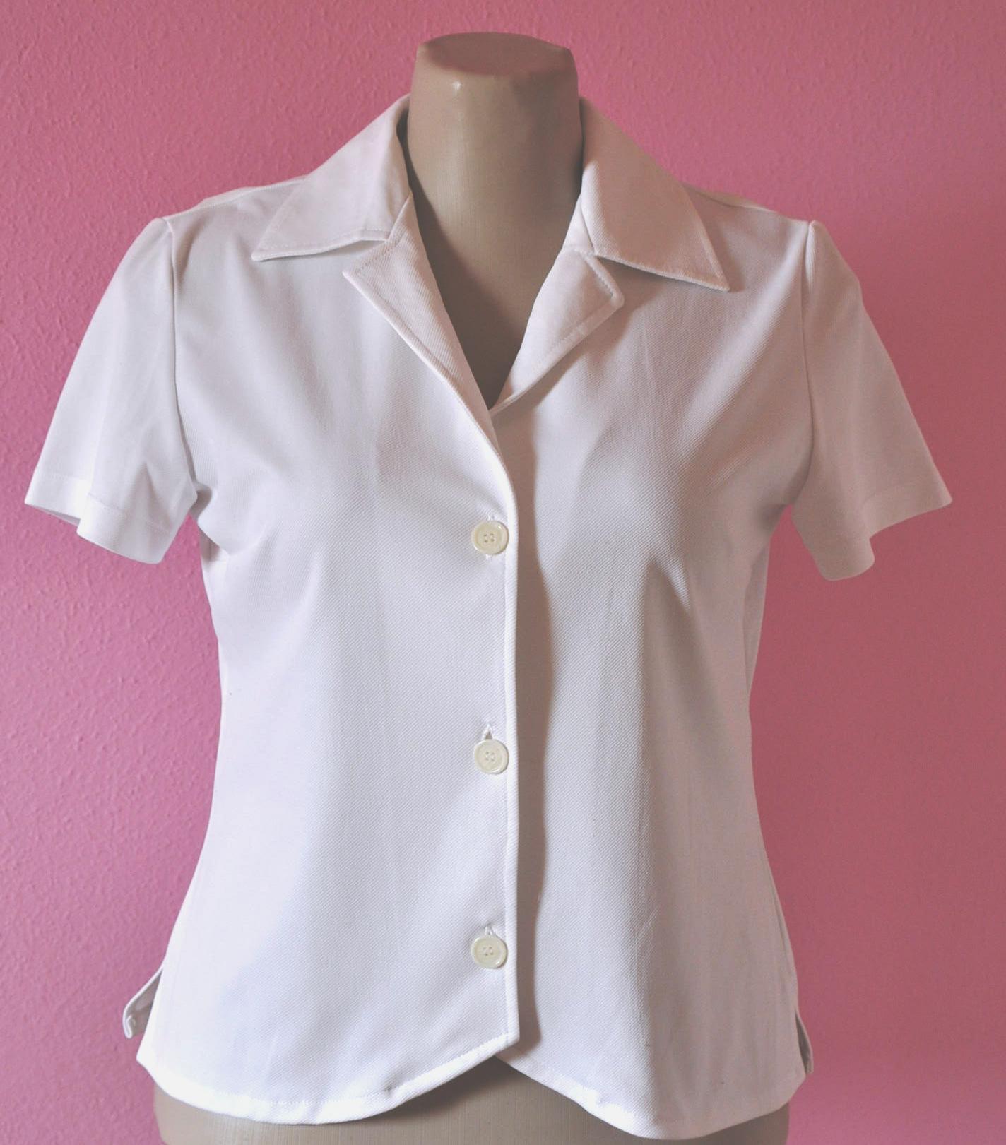 casaquinho branco manga curta