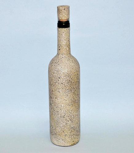 Garrafa decorada imitando granito