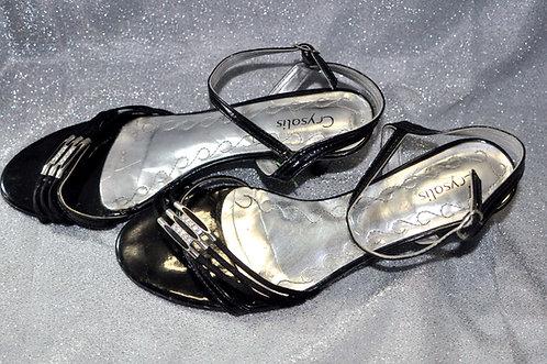sandália preta nº 36 Crysalis a venda no Brechotreschic, Brechó Très Chic, vendas online, calçados, sandálias, brechó