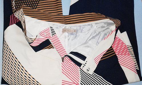 Calça cori nº 44 estampada, calça feminina, calça estampada, calça comprida, calça em oferta, brechó, brechó très chic, loja