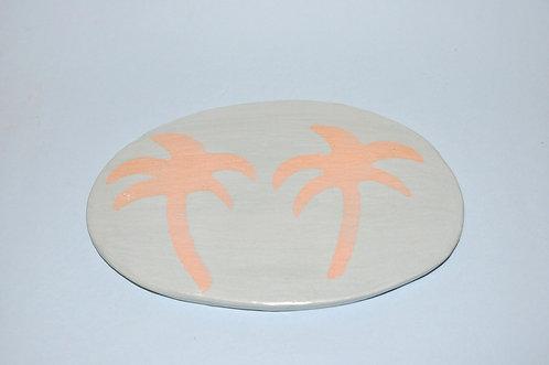 quadrinho coqueirinhos, coqueiro, coqueirinhos, coqueiros, quadro pequeno em cerâmica, cerâmicas de Sueli Finoto, loja online