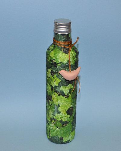 garrafa de vidro decorada Mural de Heras, Sueli Finoto artista plástica, atelie de art, craft e cerâmica, presentes, decorar