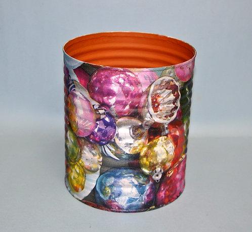 lata decorada a mão por Sueli Finoto, embalagens, colagem, latas
