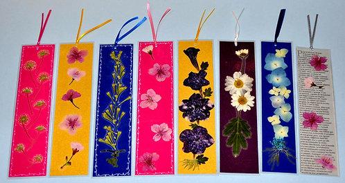 Marca páginas florais grandes, marcadores de páginas, Sueli Finoto, marque pages, bookmark, oshibana, artesanatos, art, craft