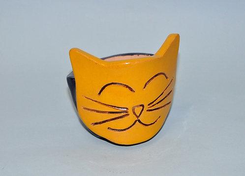 vaso, vasinho, vasos, vasinhos, vaso cara de gato, gata, gatos, craft, art, cerâmica, Sueli Finoto, presentes, loja online,