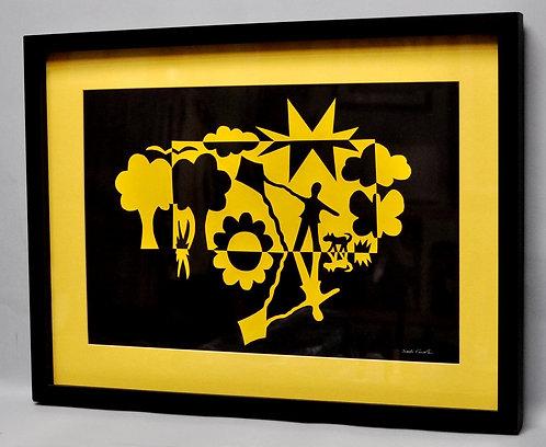 Notan, arte notan de Sueli Finoto, quadro Dia perfeito, quadros, artes