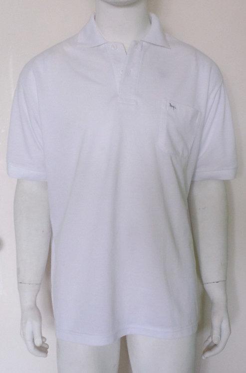 camiseta polo branca tamanho gg, brechotreschic, roupas de brechó, polo branca GG masculina, brechó très chic, ofertas,