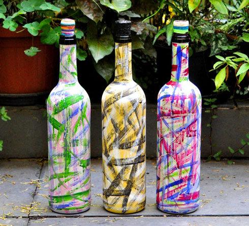 garrafas decoradas a mão por Sueli Finoto, pintura em garrafas, decoração com garrafas, Sueli Finoto artesanatos, artes,