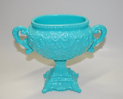 linha color tiffany, cachepo cor tiffany, vaso para flores, gesso porcelanizado