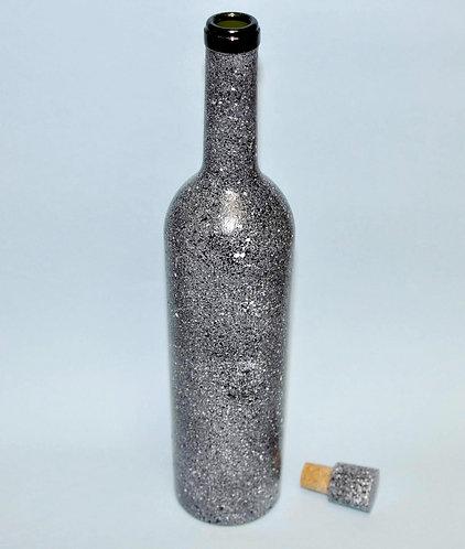 Granito, pintura em garrafa, garrafas, garrafa decorada, presentes artesanais