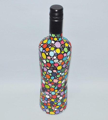 garrafa decorada de Sueli Finoto, garrafas, artesanatos de Sueli Finoto