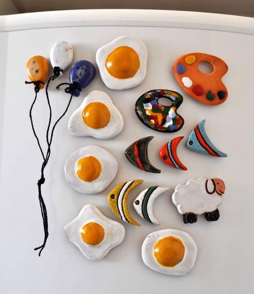 Ima de geladeira feito em cerâmica