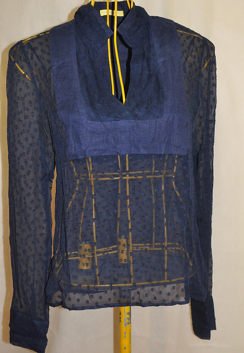 blusa batinha azul marinho, Isabella Giobbi roupas, brechó online, brechotreschic, brechó très chic, roupas de festa, roupas
