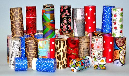 mini caixinhas para pequenas lembrancinhas, lembrancinhas, caixinhas, caixas redondas, presentinhos, festas, caixas coloridas