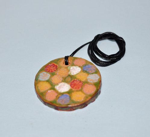 a bela primavera, pingente, colar em cerâmica, cordão com pingente, cerâmica artesanal, artesanatos, craft, bijuterias