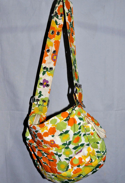 bolsa florida feminina, bolsa de lona, bolsa colorida, bolsa floral, bolsa, bolsas, brechó, brechotreeschic, loja online,